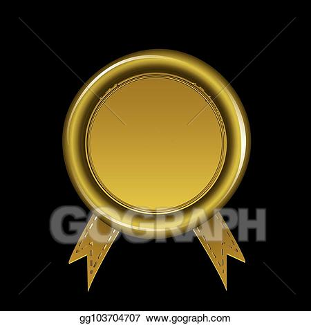 Gold wax seal clipart image stock Vector Art - Black and gold wax seal. Clipart Drawing gg103704707 ... image stock
