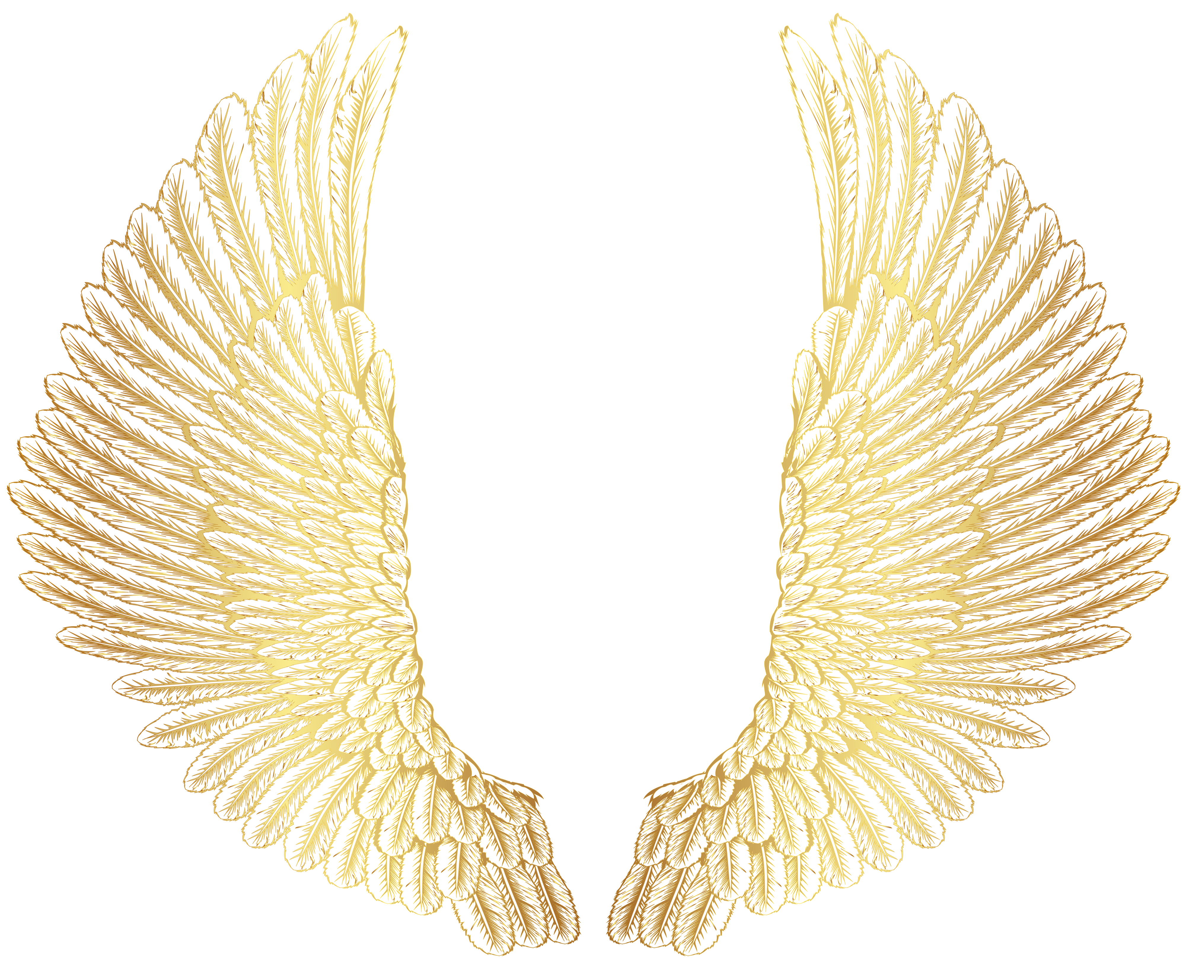 Gold wings clipart picture transparent stock Gold Wings PNG Clip Art Image | Gallery Yopriceville - High-Quality ... picture transparent stock
