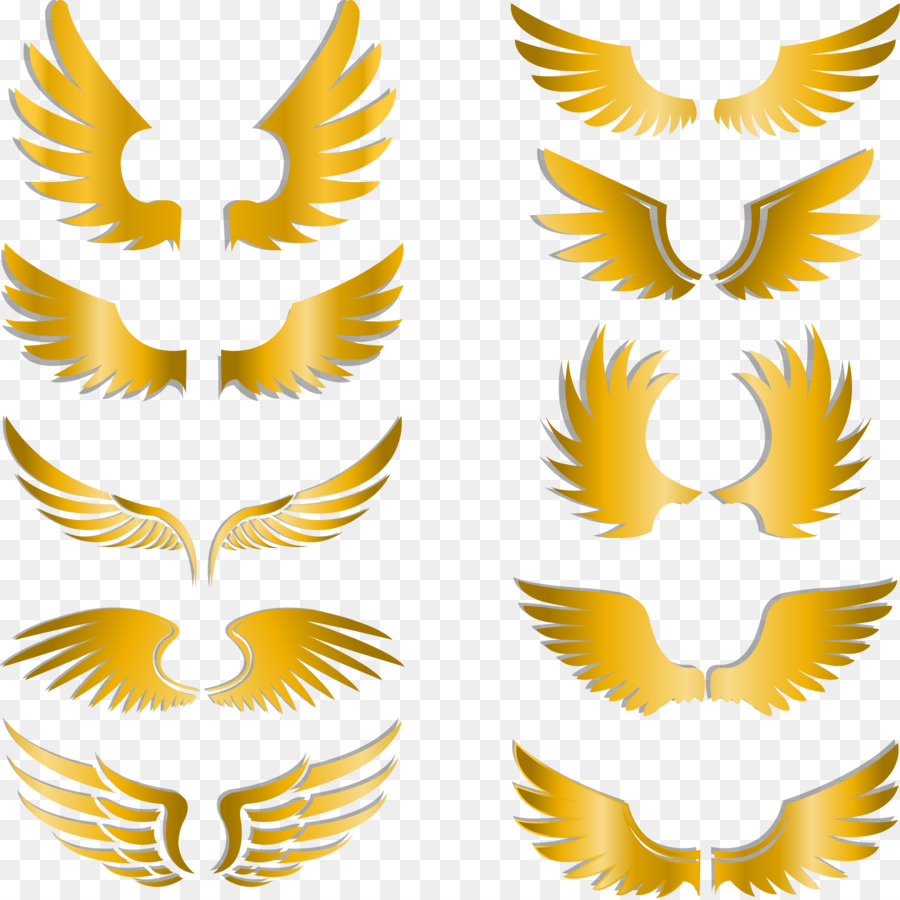 Gold wings clipart jpg free download Background Gold png download - 2230*2225 - Free Transparent Wing png ... jpg free download