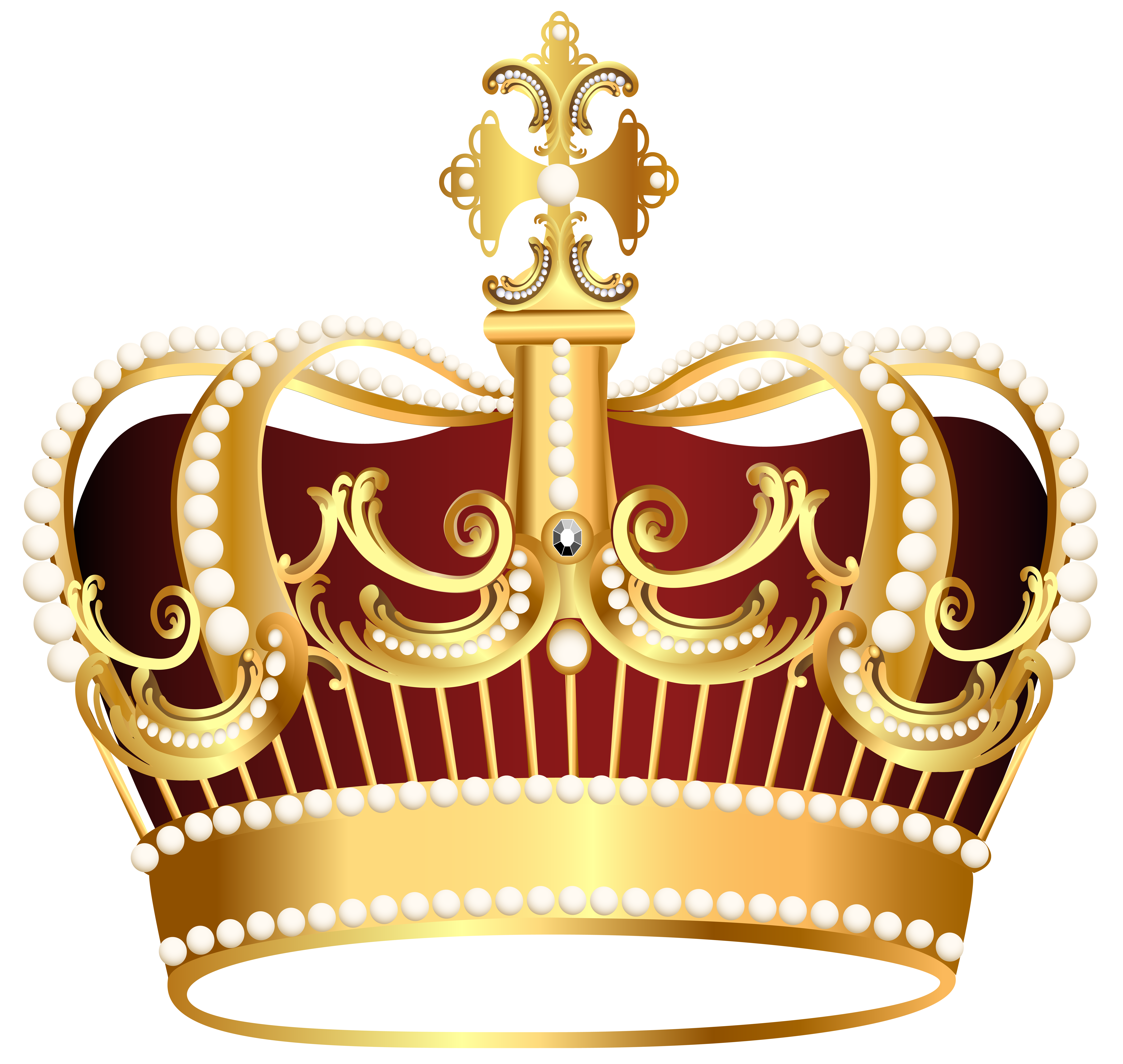 Golden and blue crown clipart vector free library Golden Crown Transparent PNG Clip Art Image | Gallery Yopriceville ... vector free library