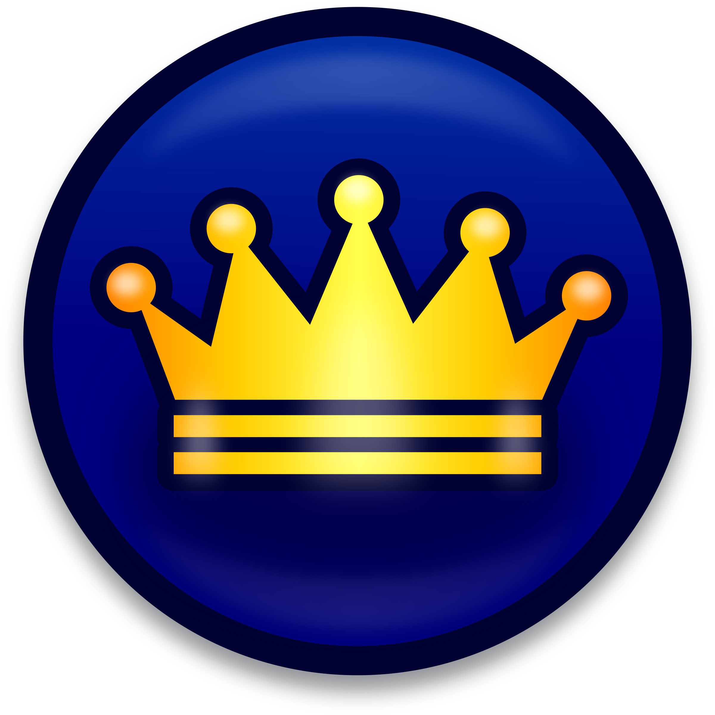 Golden and blue crown clipart image black and white stock Clipart - Golden crown symbol - icon image black and white stock