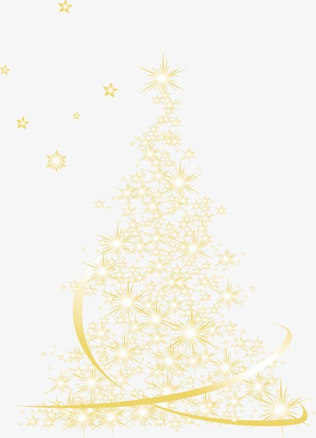 Golden christmas clipart transparent Golden Christmas Tree Light Effect PNG, Clipart, Christmas ... transparent