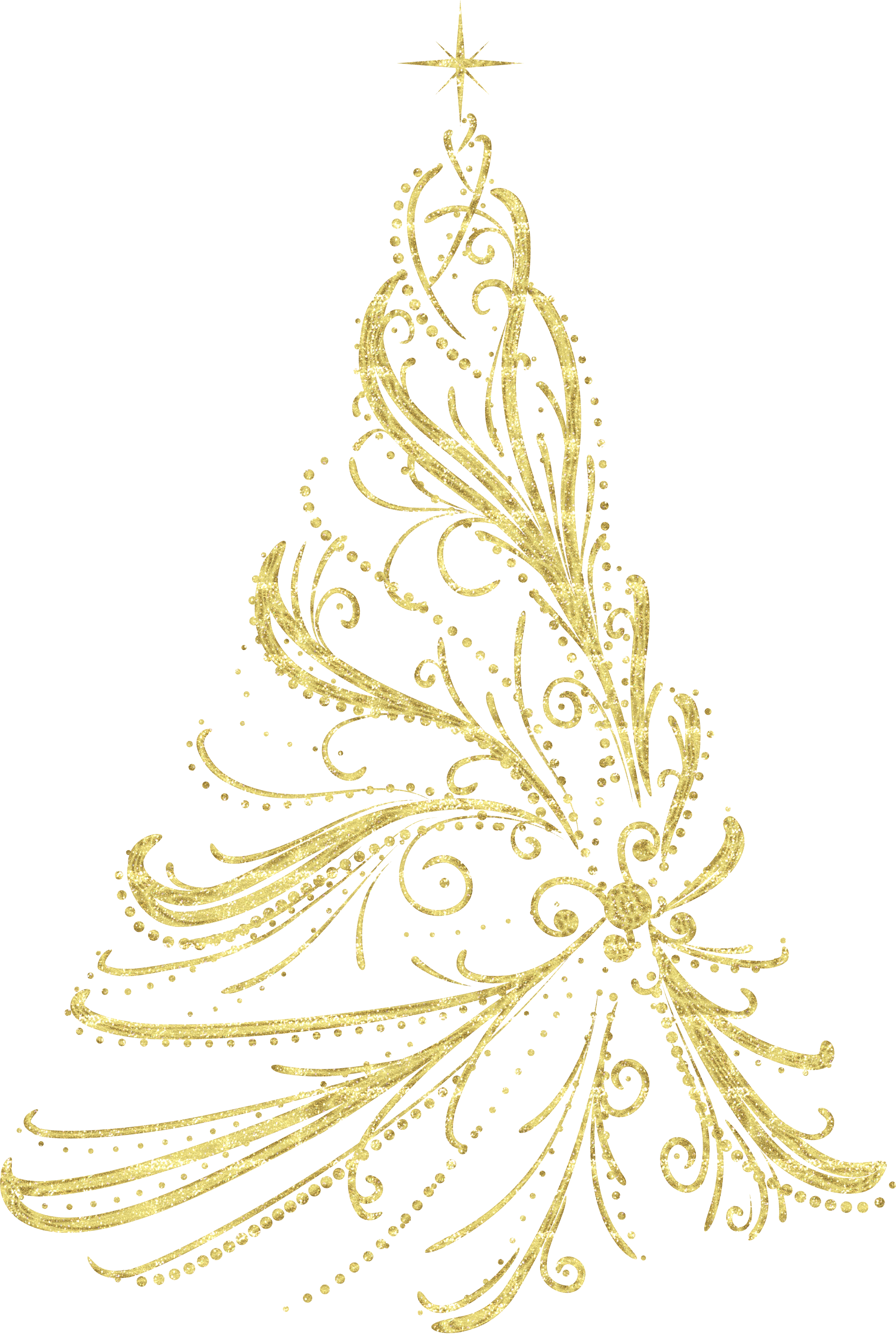 Golden christmas clipart picture Transparent Golden Decorative Christmas Tree PNG Clipart | Gallery ... picture