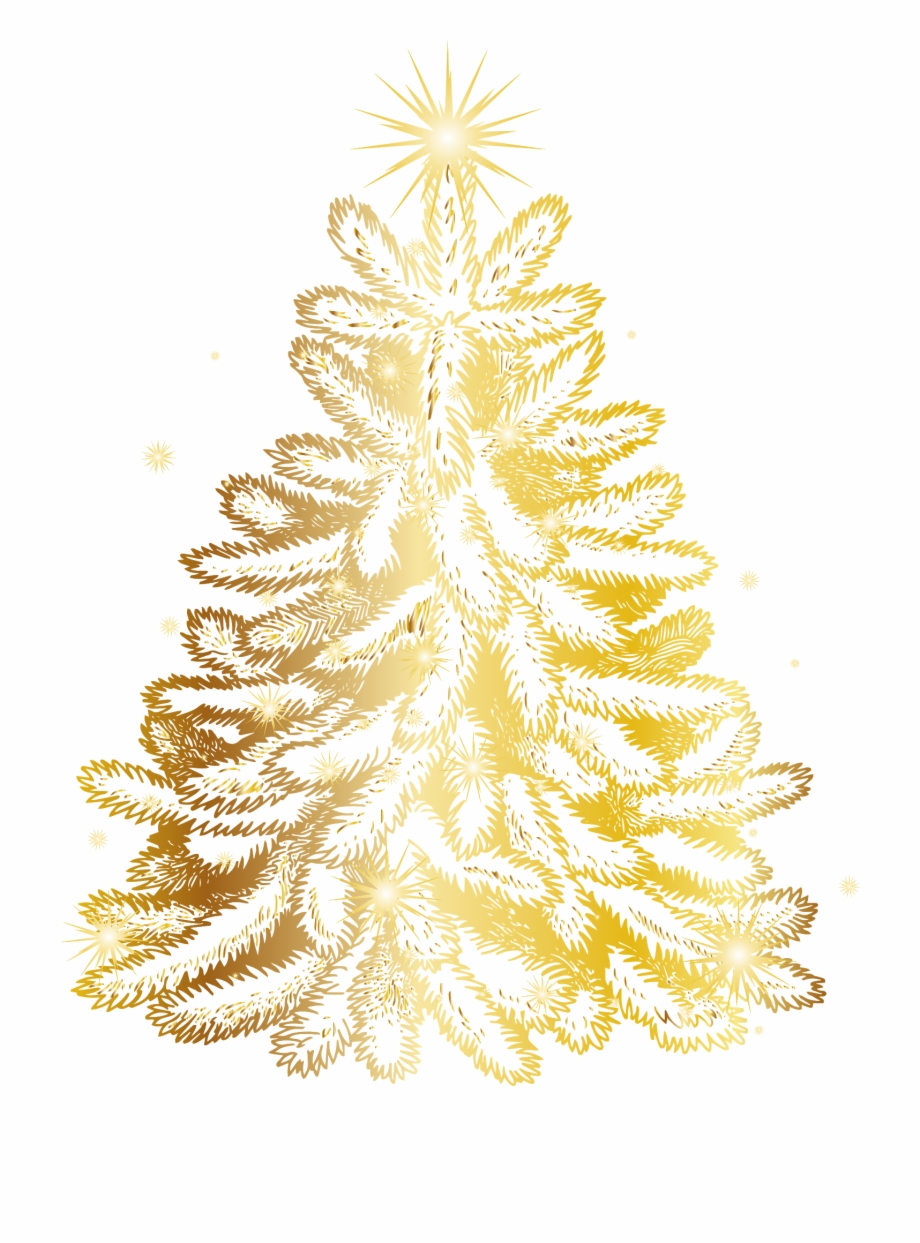 Golden christmas tree clipart graphic library library Christmas Tree Clipart, Christmas Cards, Gold Christmas, - Golden ... graphic library library