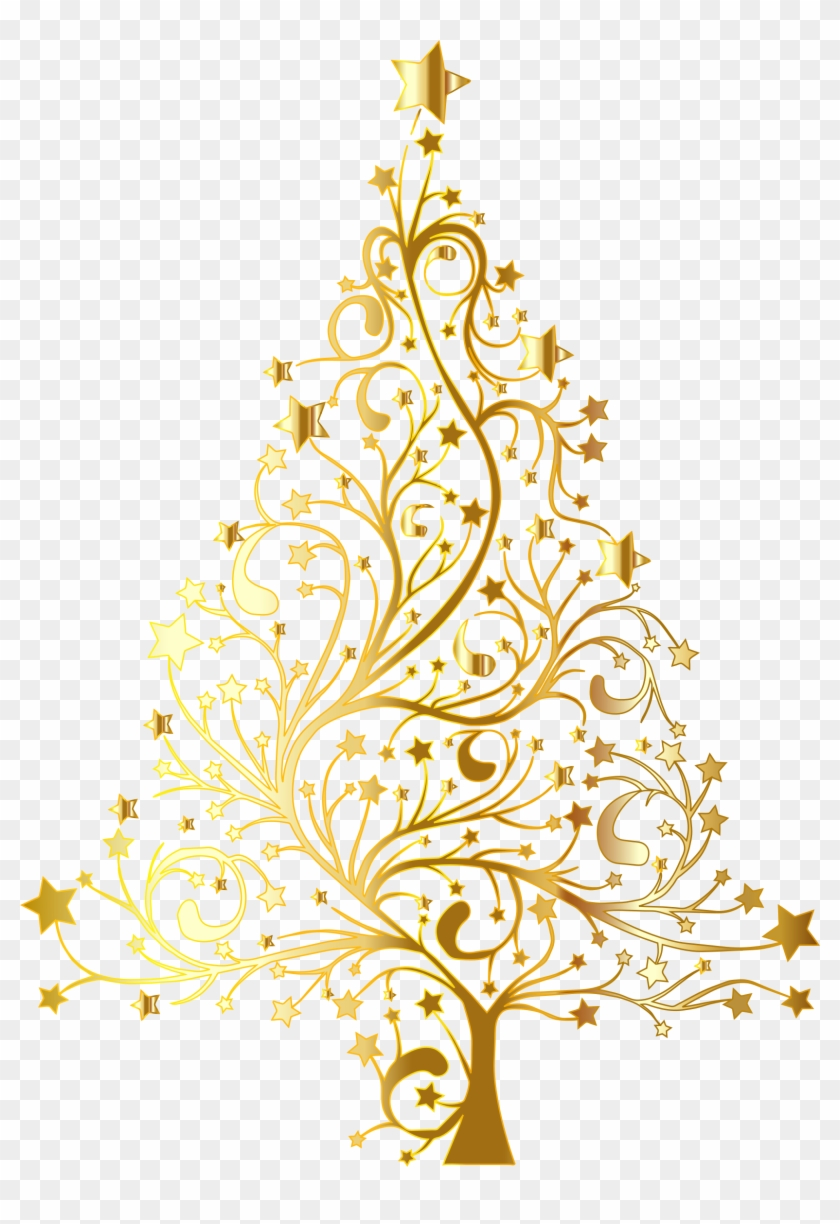 Golden christmas tree clipart vector library Gold Christmas Png - Gold Christmas Tree Vector Png, Transparent Png ... vector library