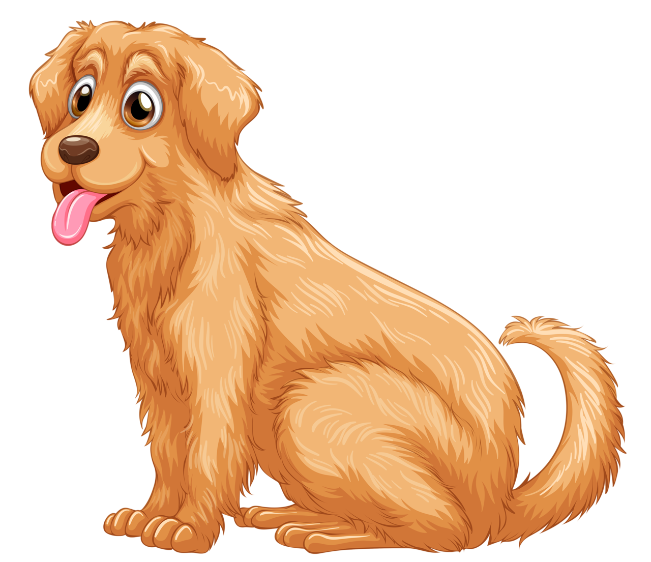Golden retriver clipart png Golden Retriever Puppy Clip art - golden dogs word png download ... png