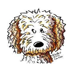 Golden doodle clipart png transparent goldendoodle cartoon - Google Search | misc | Goldendoodle art ... png transparent