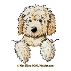 136 Best GOLDEN DOODLE Clipart images in 2019 | Animal paintings ... clipart black and white stock