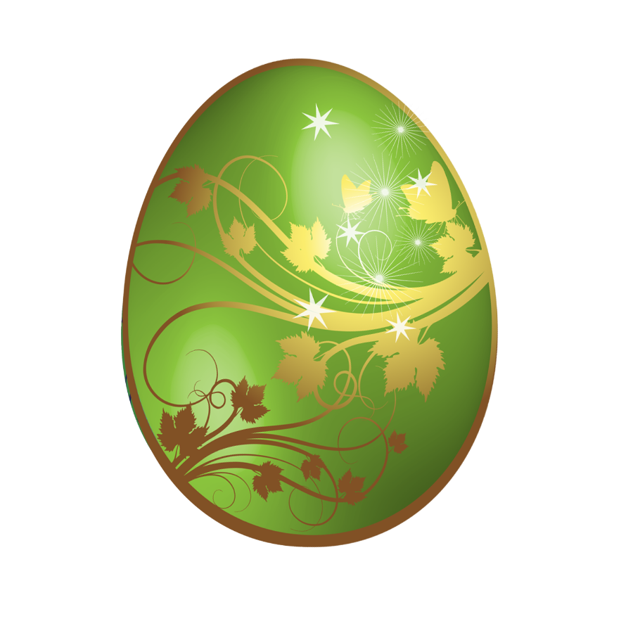 Golden easter egg clipart png vector black and white Large_Green_Easter_Egg_With_Gold_Ornaments.png?m=1363561200 vector black and white