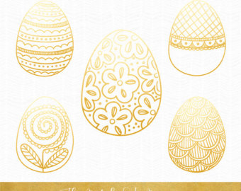 Golden easter egg clipart png vector royalty free library Golden easter egg | Etsy vector royalty free library