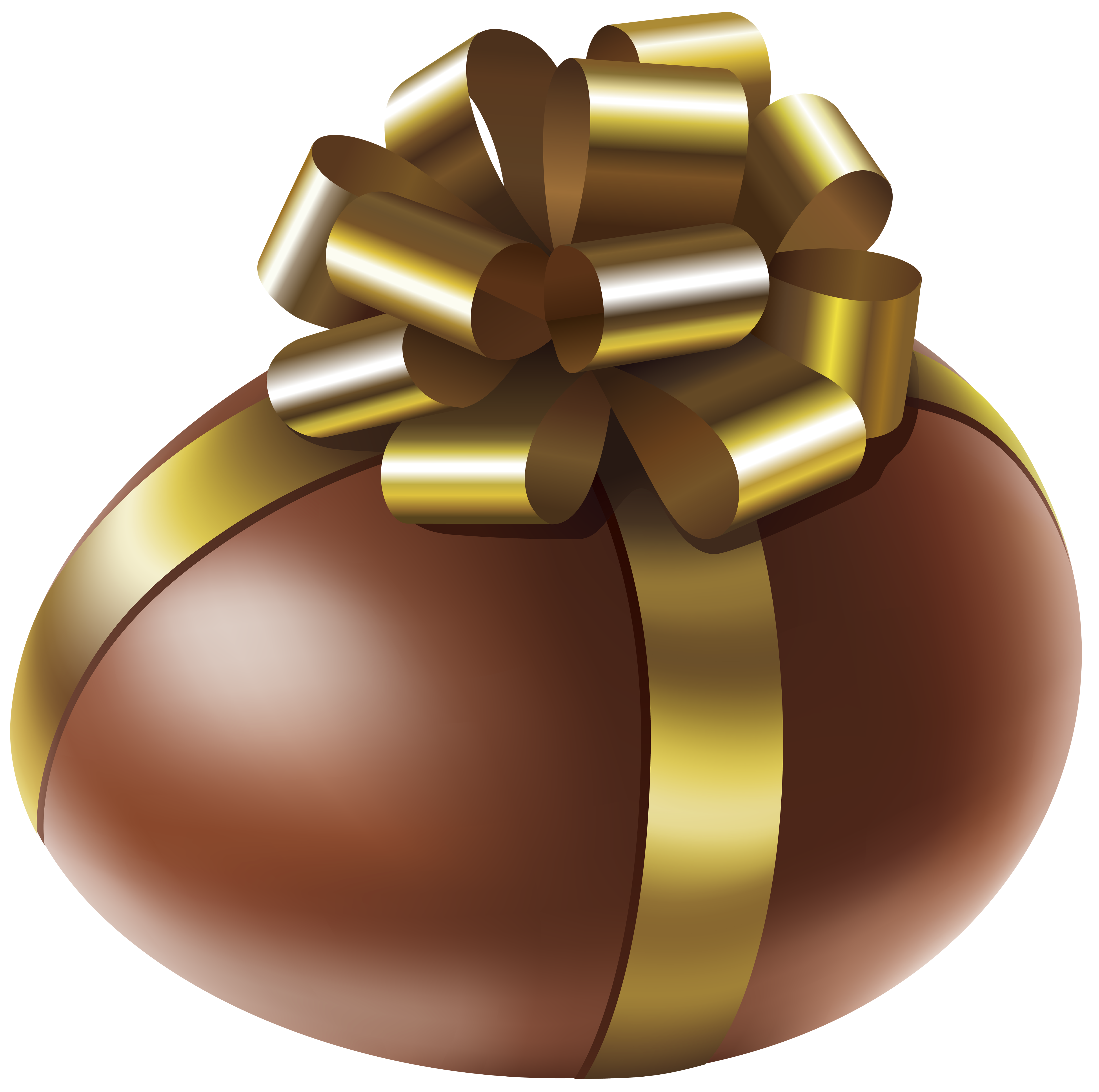 Golden easter egg clipart png svg transparent library Easter Chocolate Egg with Gold Bow Transparent PNG Clip Art Image svg transparent library