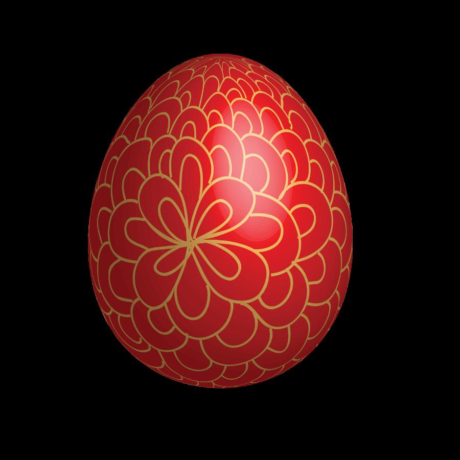 Golden easter egg clipart png download Large Red Easter Egg With Gold Ornaments download