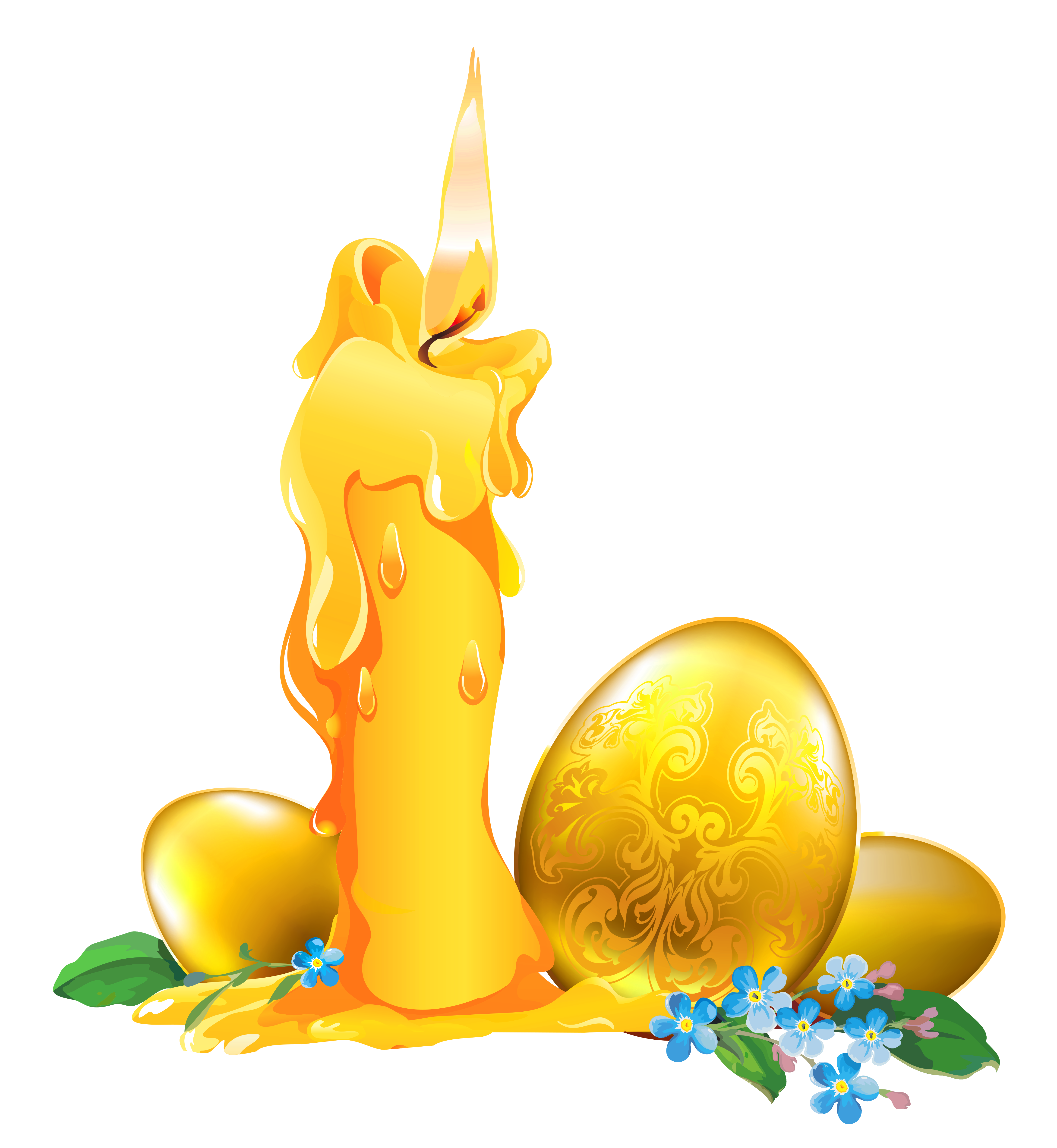 Golden easter egg clipart png vector free stock Easter Golden Egg Decoration PNG Clipart vector free stock