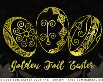 Golden easter egg clipart png graphic black and white download Golden easter egg | Etsy graphic black and white download