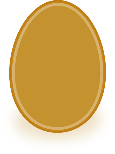 Golden egg clipart clipart royalty free library Golden Egg Clip Art at Clker.com - vector clip art online, royalty ... clipart royalty free library