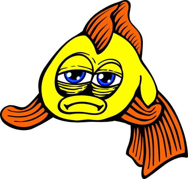 Golden fish clipart svg black and white library Golden Fish Comic Clip Art at Clker.com - vector clip art online ... svg black and white library