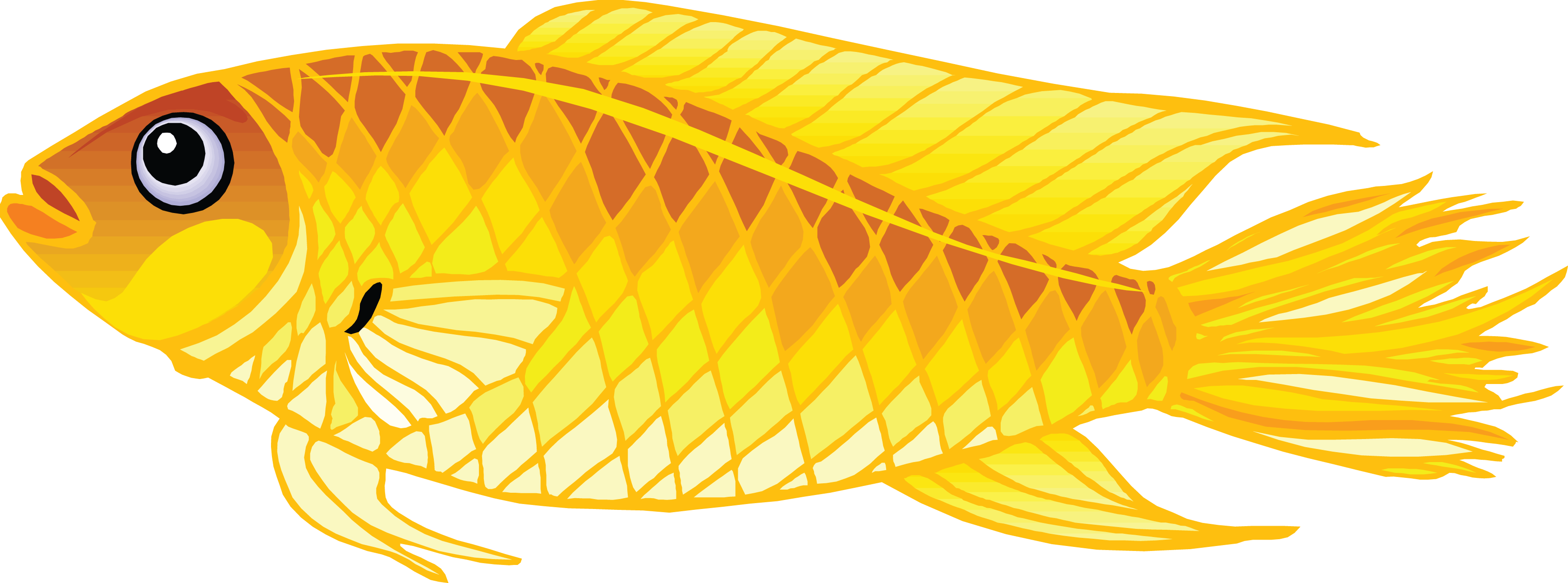 Golden fish clipart picture library download Golden Fish PNG Transparent Clipart Image #2 - Free Transparent PNG ... picture library download