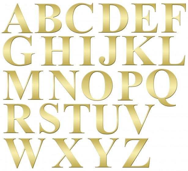 Alphabet Letters Gold Clip-art Free Stock Photo - Public Domain Pictures clip transparent