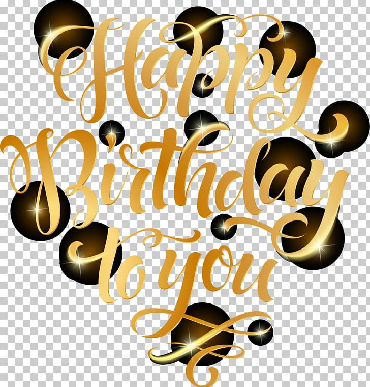 Golden Font Birthday Celebration PNG, Clipart, Birthday Background ... picture royalty free library