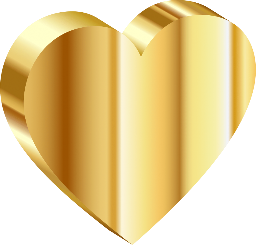 Golden heart clipart clip art library download gold heart png - Free PNG Images   TOPpng clip art library download