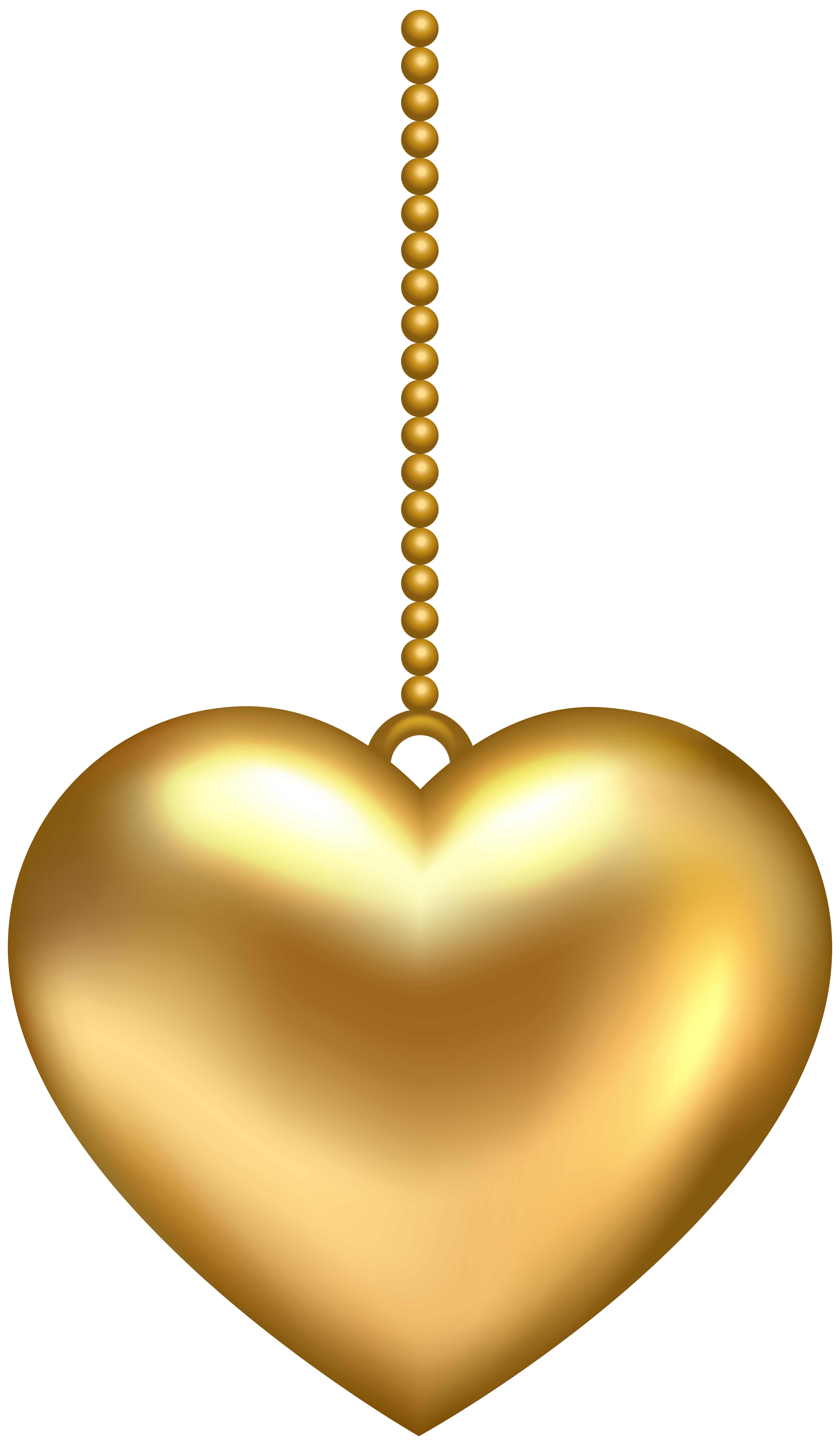 Golden heart clipart clip art stock Hanging Golden Heart PNG Clip Art Image   Gallery Yopriceville ... clip art stock