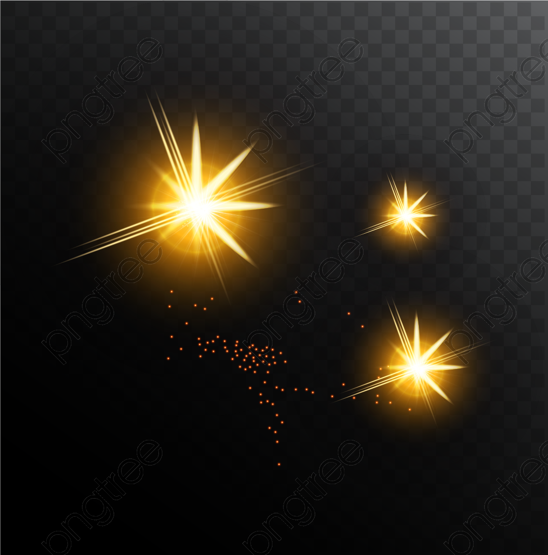 Shine light effect clipart graphic free download Transparent golden shine light effect vector PNG Format Image With ... graphic free download