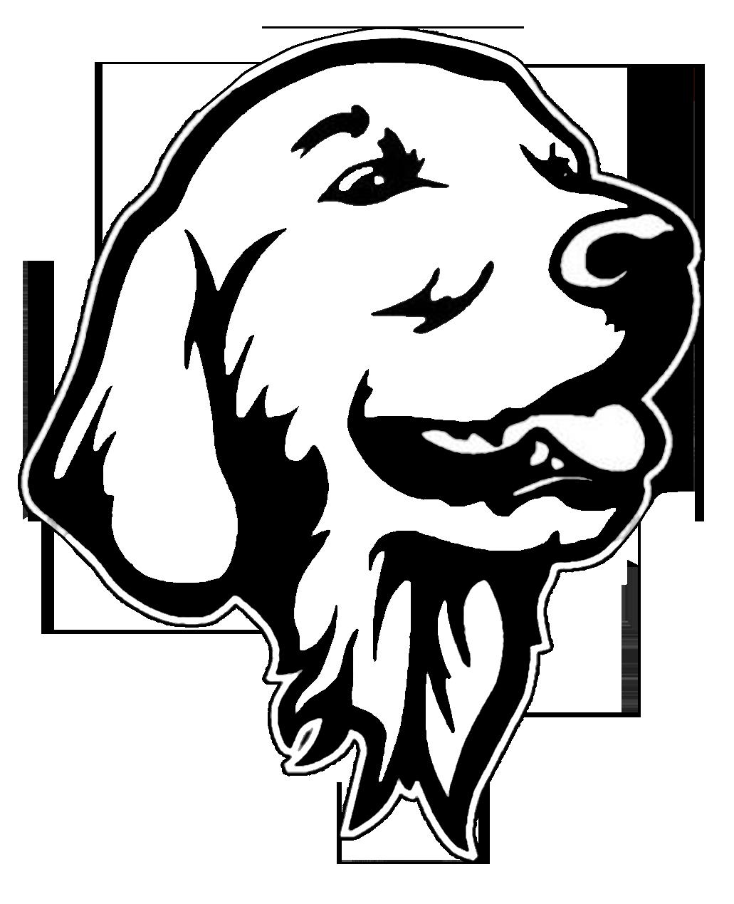 Golden retriever dog clipart vector free download Golden retriever decal vector free download
