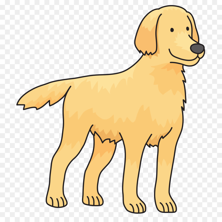 Golden retriver clipart png black and white library Golden Retriever Background clipart - Puppy, Pet, Illustration ... png black and white library