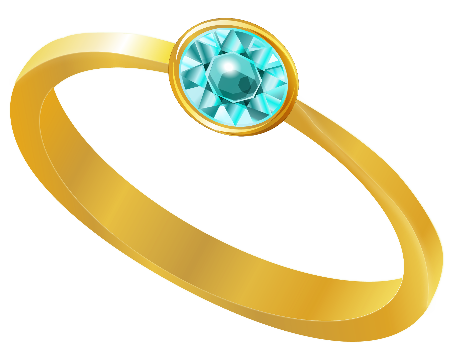 Golden ring clipart image free stock Golden Ring with Blue Diamond PNG Clipart   Gallery Yopriceville ... image free stock