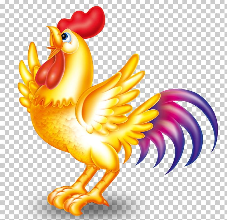 Golden rooster clipart clip black and white stock Chinese Zodiac Chinese New Year Lichun Rooster Lunar New Year PNG ... clip black and white stock