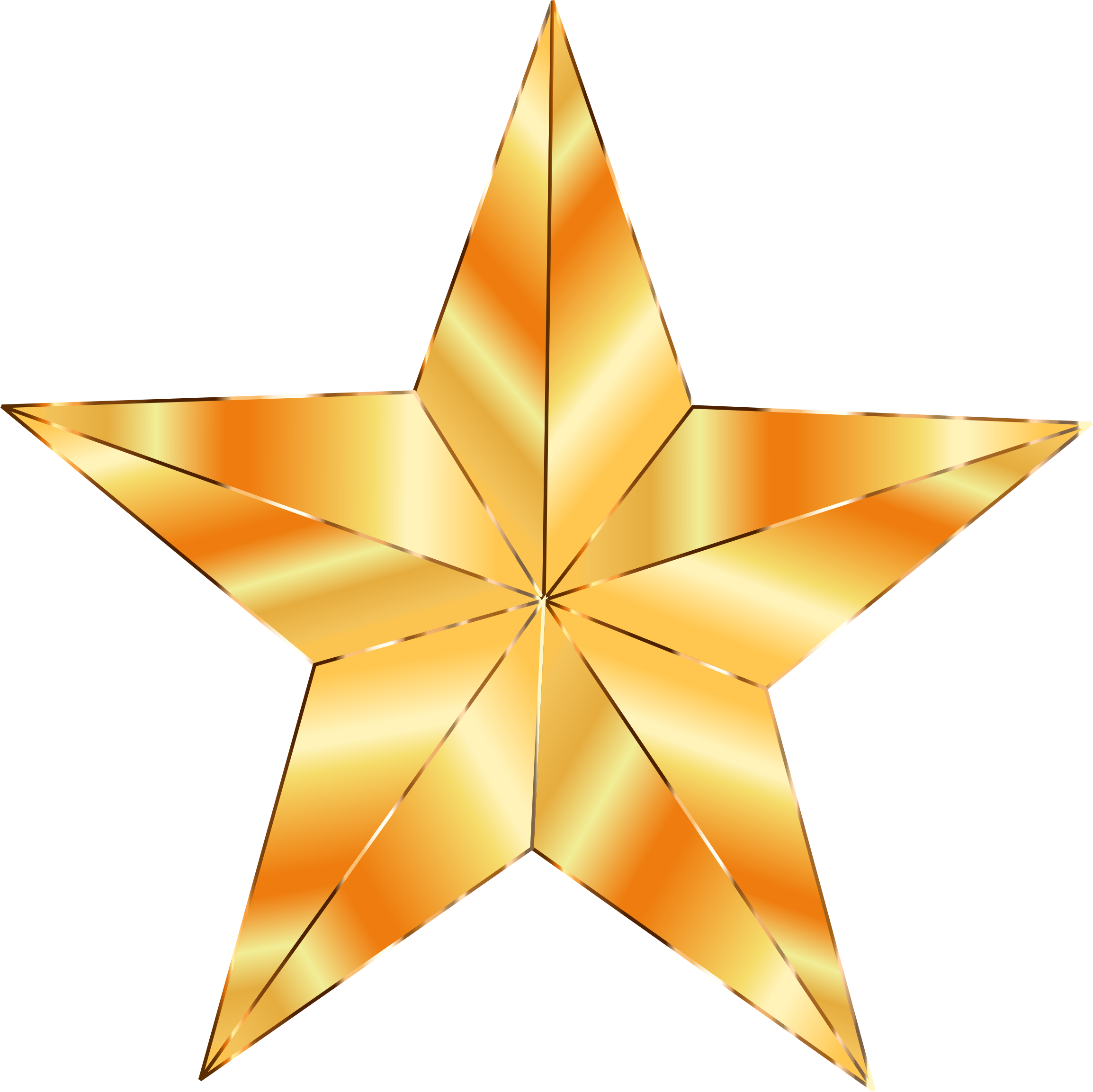 Stellar star clipart picture transparent library Golden Star by @GDJ, The golden star used in the