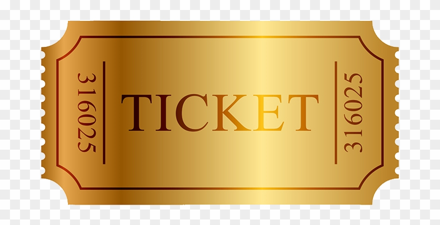 Golden ticket clipart png Million Dollar Coach Training - Golden Ticket Clipart (#3864614 ... png