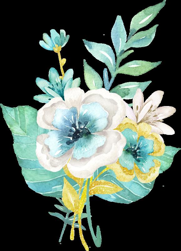 Teal watercolor flower clipart picture transparent library fleurs,flores,flowers,bloemen,png | Kwiaty transparent | Pinterest ... picture transparent library