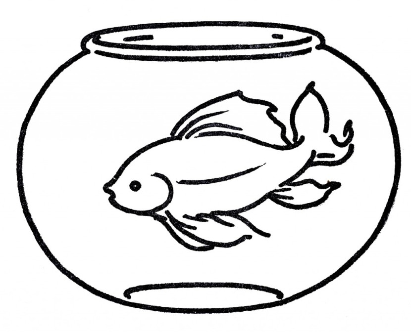 Goldfish clipart black and white vector freeuse download Goldfish clipart black and white 5 » Clipart Station vector freeuse download