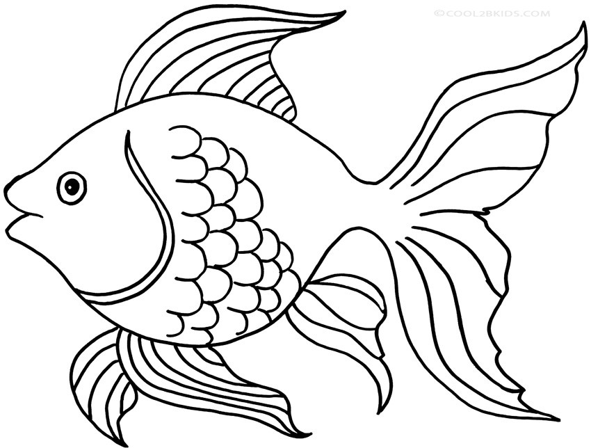 Goldfish clipart black and white image free library Goldfish clipart black and white 5 » Clipart Portal image free library