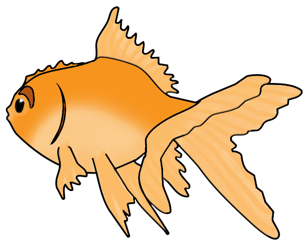 Goldfish with crown clipart clip free Fish Clip Art clip free