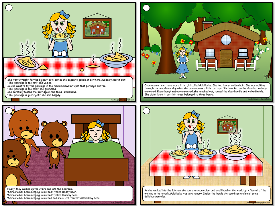 Goldilocks and porridge in her hair free clipart image transparent download Goldilocks and The Three Bears Story Sequencing - Traditional Tales  (Non-editable) image transparent download