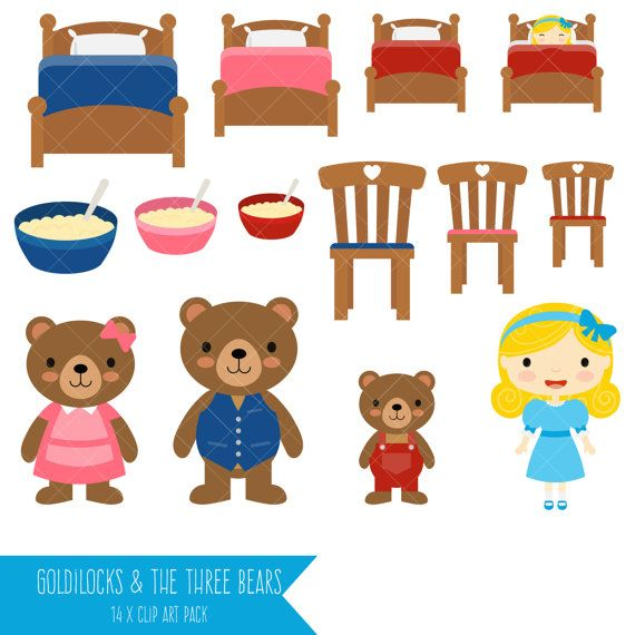 Goldilocks and porridge in her hair free clipart vector transparent stock Goldilocks and the Three Bears Clipart | Felt board | Goldilocks ... vector transparent stock