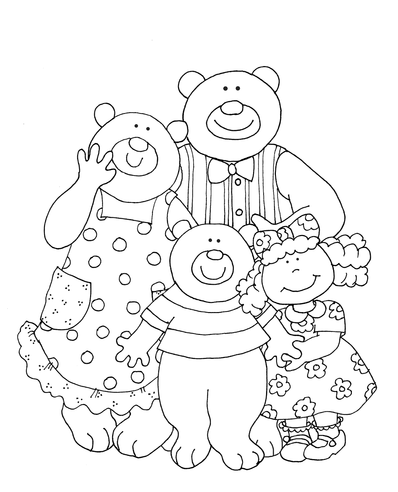 Free Dearie Dolls Digi Stamps: Goldilocks and the Three Bears ... graphic freeuse download
