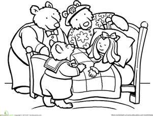 Color Goldilocks and the Three Bears | Fairy tales/rhymes/fables ... vector free stock