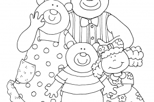 Goldilocks and the three bears clipart black and white 1 » Clipart ... jpg royalty free
