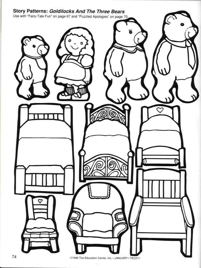 Read Goldilocks and the Three Bears and then print out some coloring ... vector transparent