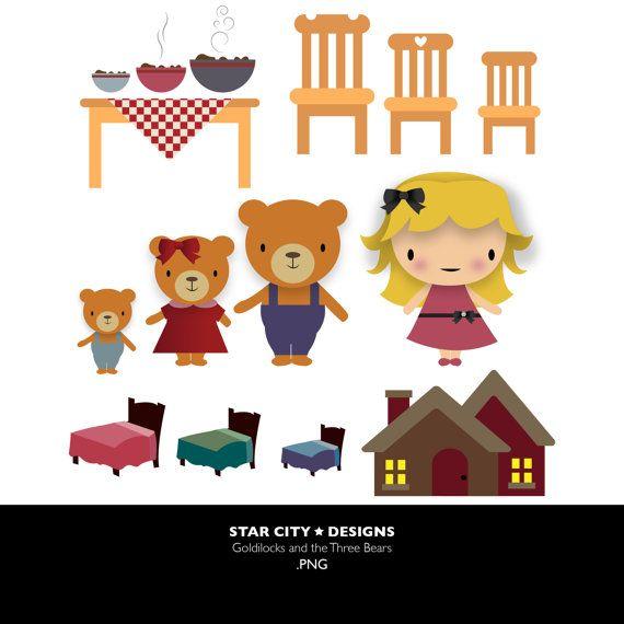 Unavialbe clipart clip Goldilocks and the three bears Clip Art- Clipart, Vector Art ... clip