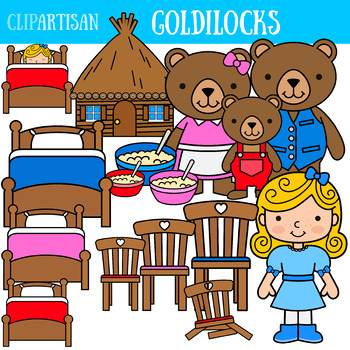 Goldilocks and three bears clipart black and white Goldilocks and the Three Bears Clip Art, Fairy Tale Printable black and white