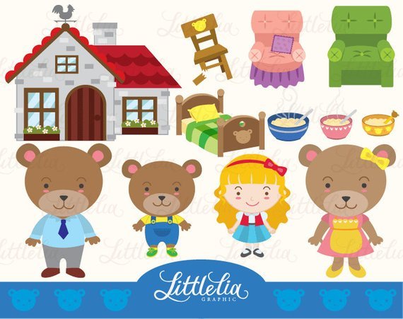 Goldilocks and three bears clipart picture freeuse library Goldilocks and the three bears clipart 7 » Clipart Station picture freeuse library