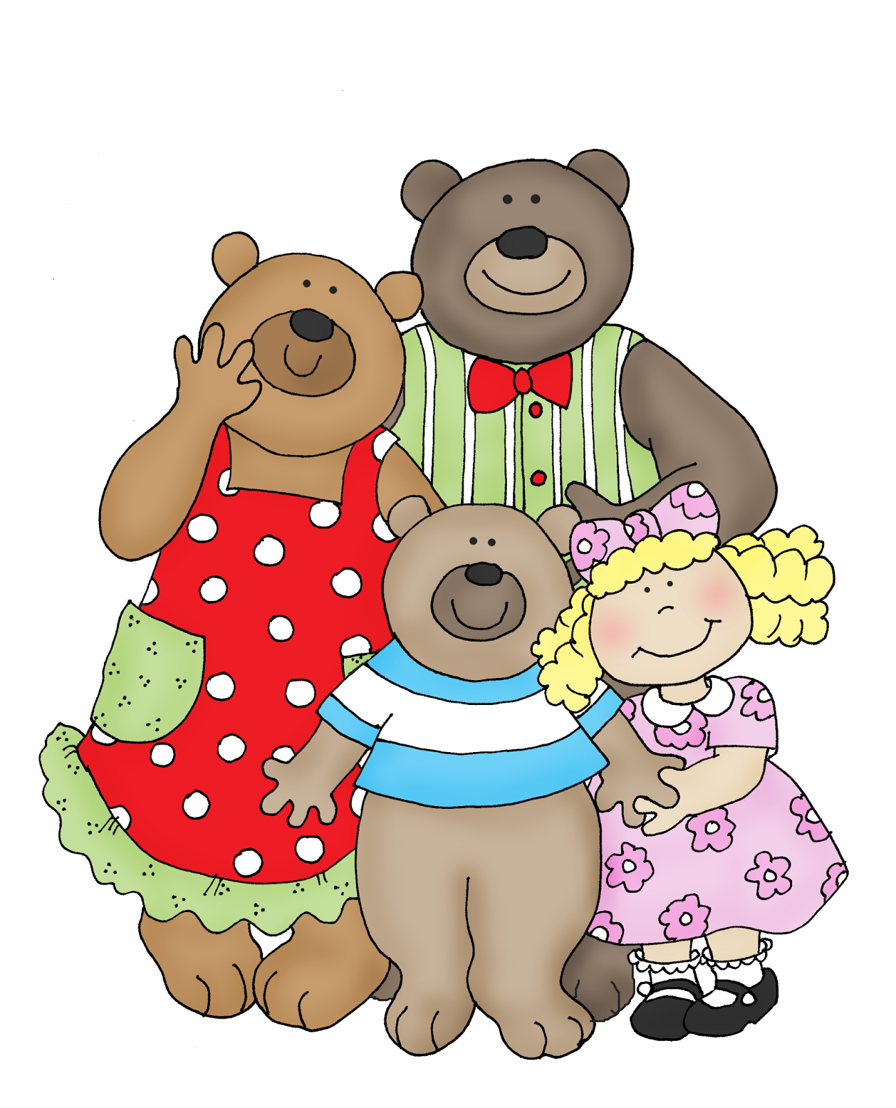 Goldilocks and three bears clipart image free Goldilocks and the Three Bears | house mouse in color for card ... image free