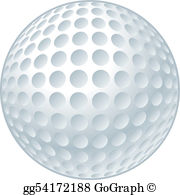 Golf ball clipart clipart black and white stock Golf Ball Clip Art - Royalty Free - GoGraph clipart black and white stock