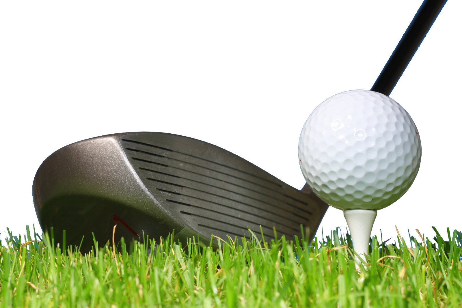 Golf ball on tee with club clipart free Golf ball Golf club Tee Wood - Golf balls and golf clubs png ... free