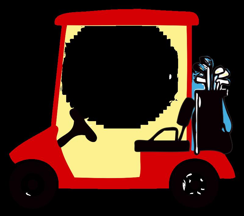 Golf car clipart vector freeuse stock Golf Cart Clipart Group (52+) vector freeuse stock