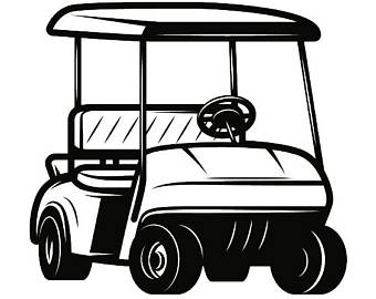Golf cart black and white clipart free vector jpg transparent download Golf Cart Clipart | Free download best Golf Cart Clipart on ... jpg transparent download